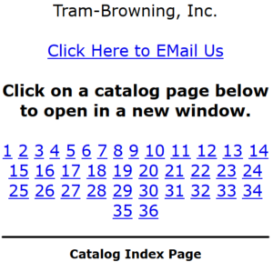 """The text that says """"Catalog Index Page"""" is just that - text. It is not clickable. It does not lead to an index."""