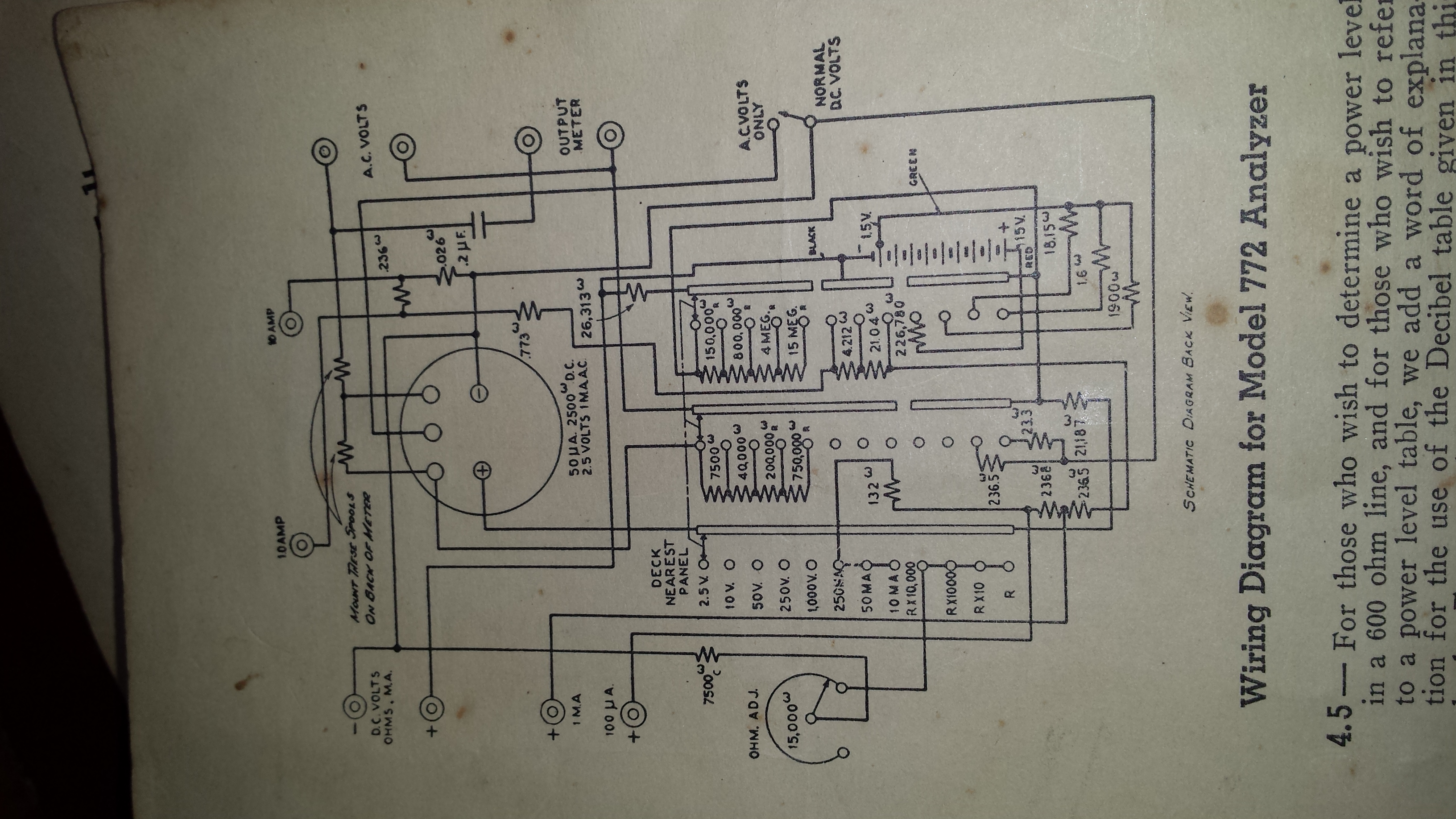 Weston Super Sensitive Analyzer Kg4cyx Wiring Diagram Image